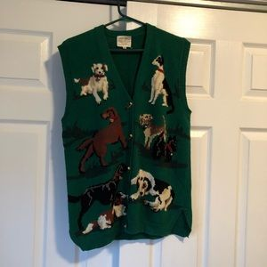Susan Bristol Sweater Vest With DOGS! 🐕🐩🐶